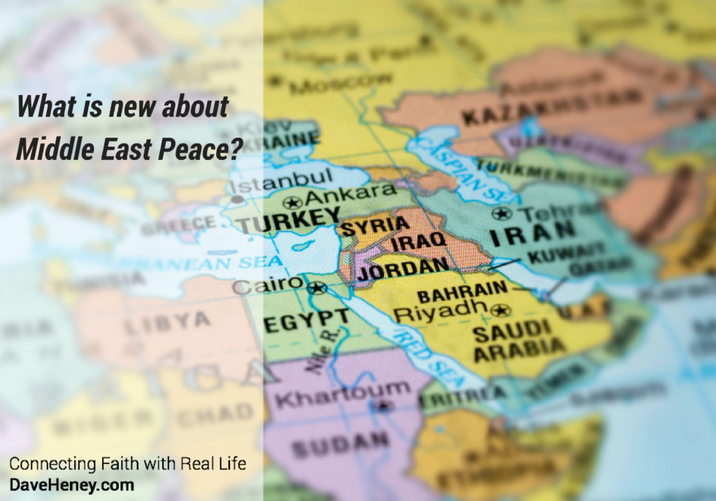 What is new about Middle East Peace